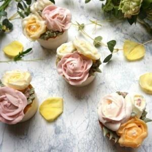 フラワーカップケーキ体験