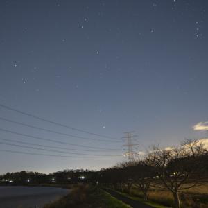 都会で星空写真 年が変わる前に写真撮影!!