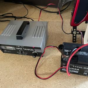 バッテリー充電と男山