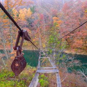 飛騨荘川 謎の吊り橋は店仕舞い