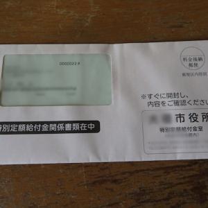 特別定額給付金関係書類とやらが届きました