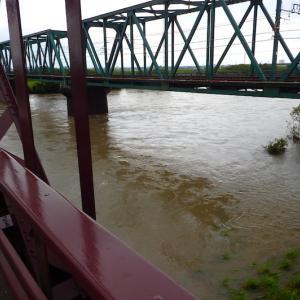 大雨洪水警報の揖斐川の様子 〜 ちょっと川の様子を見に行って来る