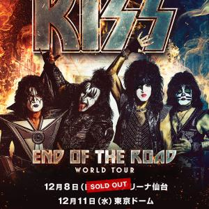 明日はKISS仙台公演!(2019.12.08)
