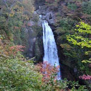 紅葉が始まった秋保大滝(2020年)