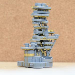 まるで違法建築?個性的な艦橋の戦艦扶桑1/350を作る(その2)