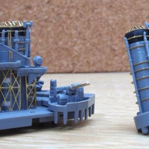 艦船プラモデル比叡1/700の製作途中