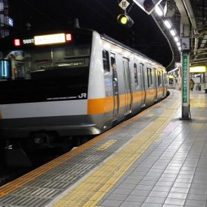 早朝の飯田橋駅