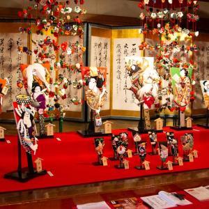 酒田方面撮影旅行 その24 酒田の料亭文化を今に伝える「山王くらぶ」の2階の傘福特別展示