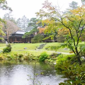 日光田母沢御用邸公園見学 その4 庭の紅葉