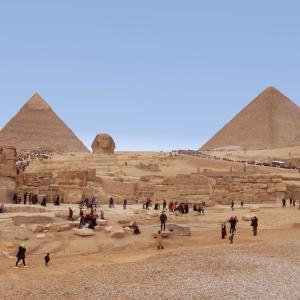 エジプト紀行 その71 カイロの世界遺産・ギザのスフィンクス見学