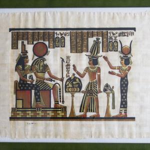 エジプト紀行 その79 カイロで購入したパピルス画