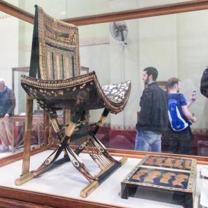 エジプト紀行  その93 カイロのエジプト考古学博物館見学 ⑭ツタンカーメン王の墓からの秘宝-3