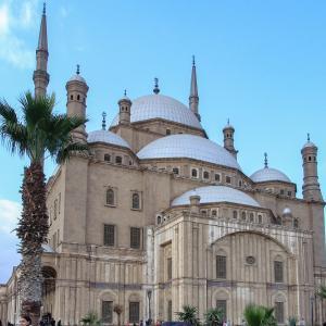 エジプト紀行  その101 カイロのシンボル的モスク・モハメド・アリ・モスク周辺の野外市場