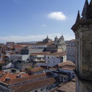 ポルトガルの旅 その29 コインブラ大学(旧大学)の展望所から見たコインブラ旧市街