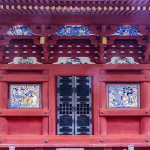 栃木市 岩船山高勝寺で初詣 その5 三重塔の初層の中国故事の彫刻