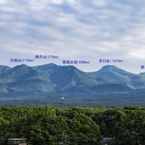 ホテルエピナール那須展望台からの那須高原の眺望
