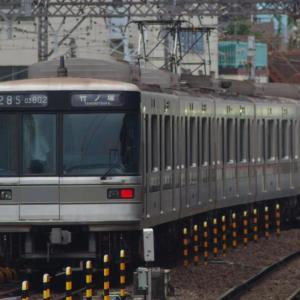 中目黒駅で日比谷線ウォッチング...