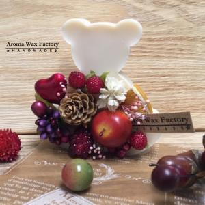 木の実や果実が可愛い♡くまのアロマワックスサシェ