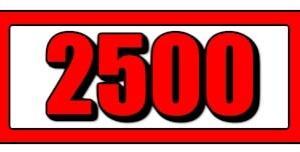 祝❗️ブログ開設2500日