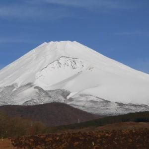 やっと冬の富士山になったよ!