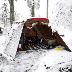 【花の森オートキャンピア】で雪中キャンプ《後編》