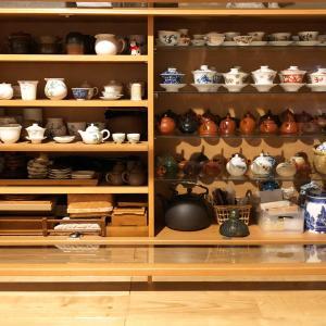 台湾茶器・茶葉の収納用 - IKEAのキャビネット大改造が遂に完結
