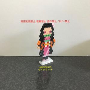 アイロンビーズ☆六角L★鬼滅の刃 竈門禰豆子 平面
