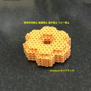 アイロンビーズ☆六角S★新しくポン・デ・リング ドーナツを作ってみました♪