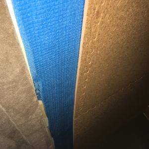 天井を貼り替えの仕上げをしました