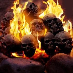 【道具】恐怖!キャンプ場でドクロが燃える恐ろしい光景に遭遇!?