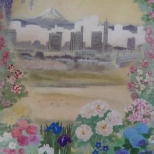 休足7日目。石原進 日本画展へ。
