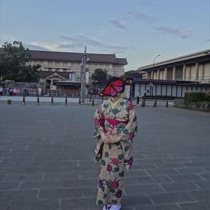 きもの展へ 皆のコーデ1ポップな紫陽花コーデ