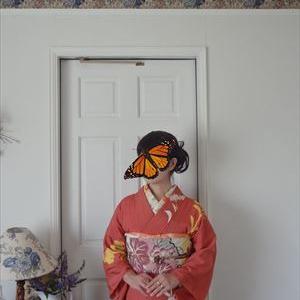 女郎花の着物