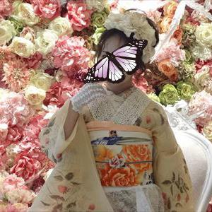 苺の小地谷着物