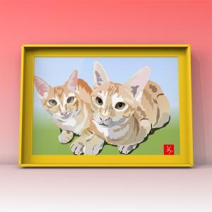 エクセル猫ができるまで②【作画過程つき】
