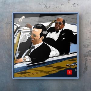 エクセル画でB. B. King & Eric Clapton @ Riding With The King