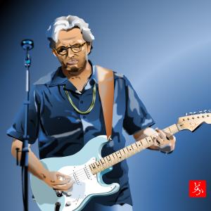 エクセル画でEric Clapton