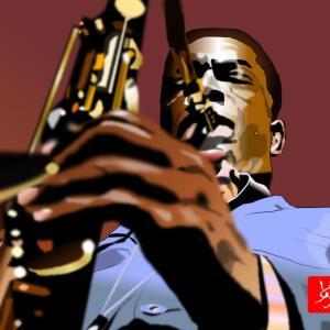 エクセル画でJohn Coltrane