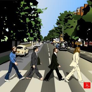 """エクセル画で""""Abbey Road""""~リライトして再掲"""
