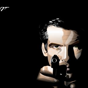 エクセル画でJames Bond @ ピアース・ブロスナン
