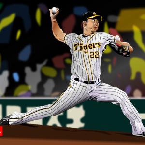 やっと開幕。阪神タイガースのクローザー 藤川球児をエクセルで描いてみた