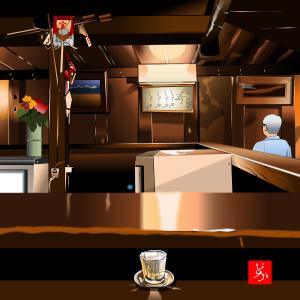 仙台ディープゾーン文化横丁の顔的な居酒屋、「源氏」をエクセルで描いてみた