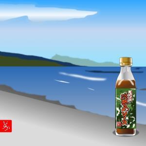 「淡路島ソース」のパッケージをエクセルのイラストで描いてみた