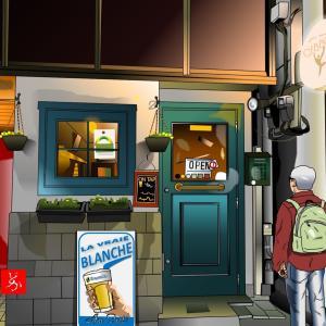 池袋西口のベルギービール専門店Gibbonの改装後をエクセルで描いてみた