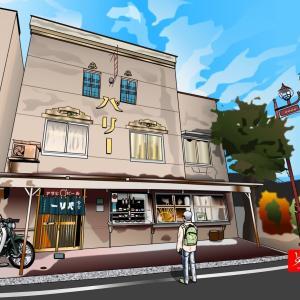 秩父の昭和モダン飲食店「パリー食堂」をエクセルで描いてみた