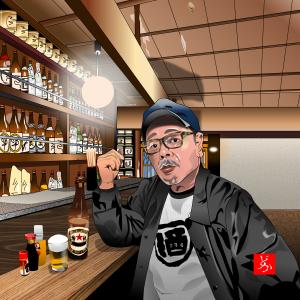 飲酒業界の元祖スーパースター、なぎら健壱をエクセルで描いてみた
