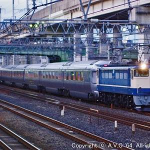 EF65(1102号機)~黄昏時の夜行列車〔汽笛あり〕
