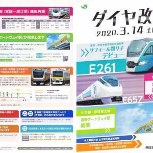 3.14ダイヤ改正(パンフレット)~E261系、E657系、高輪GW駅他