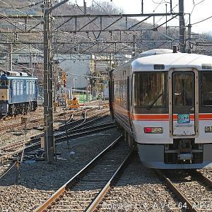 373系(特急ふじかわ)~EF64 37号機とコラボ