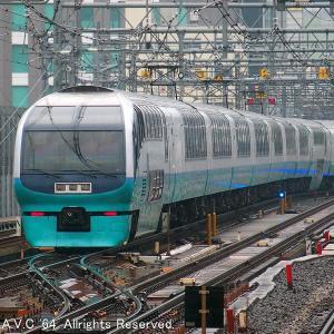 251系(スーパービュー踊り子)~東京駅送り込みを見送る
